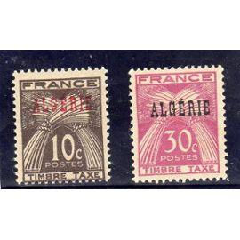 Timbres-taxe d'Algérie (timbres de France surchargés Algérie)