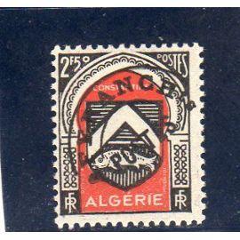 Timbre préoblitéré d'Algérie (armoiries de Constantine)
