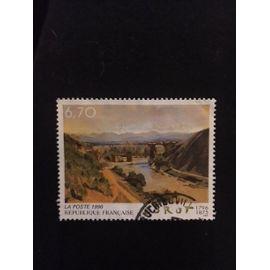 """timbre tableau """"Le Pont De Narni"""" Bicentenaire De La Naissance De Jean-Baptiste Corot Année 1996 N° 2989 Yvert Et Tellier"""