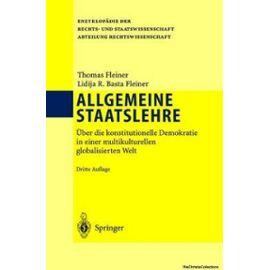 ALLGEMEINE STAATSLEHRE : ÜBER DIE KONSTI - Unknown