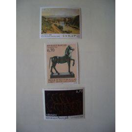 Série artistique: 3 timbres N° 2989, 3014, et 3023 NEUFS ** LUXE
