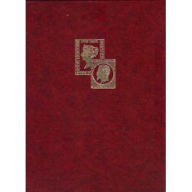ALBUM DE 500 TIMBRES MINIMUM DU MONDE, FORMAT 30.5X22.5, 32 pages noires, 9 bandes / Espagne, France, USA plaques, Colonies F...