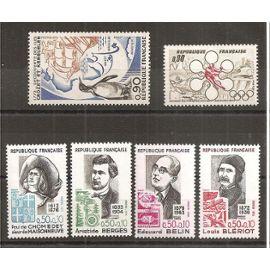 1704 à 1709 (1972) Crozet et Kerguelen / Sapporo / Série Croix-Rouge N** (cote 4,25e) (5758)