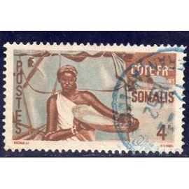 Timbre-poste de la Côte des Somalis (femme somali)