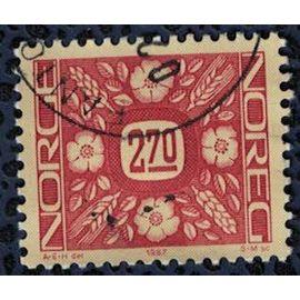Norvège 1987 Oblitéré Used Ornements Végétaux épis grains fleurs SU