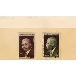 Timbres-poste du Gabon (Premier ministre Léon Mba)