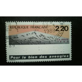 TIMBRE FRANCE (YT 2562 ) 1989 Aide pour les personnes aveugles