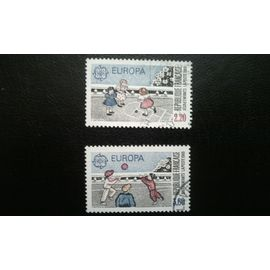 TIMBRE FRANCE (YT 2584-2585 ) 1989 Séries: Europa (C.E.P.T.) 1989 Terrain de jeu
