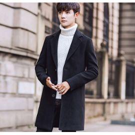 site réputé fefd2 51734 Mode Homme Manteau Long manteaux d'hiver Mélanges de laine chaud pardessus