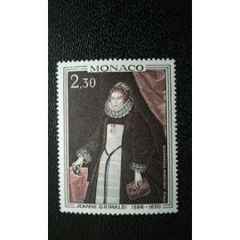 TIMBRE MONACO (YT 771 ) 1968 Jeanne Grimaldi (1596-1620), par Bernardin Mimault (1609-1673)