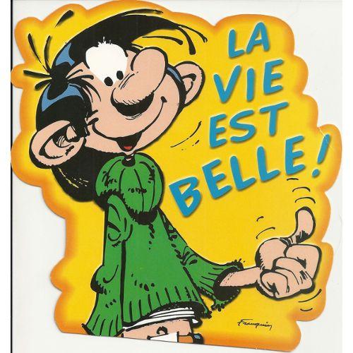 GASTON LAGAFFE CARTE DÉCOUPÉE « La vie est belle ! » | Rakuten