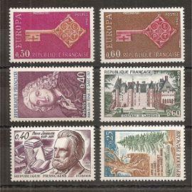 1556 à 1561 (1968) Série de Timbres neufs N** (cote 3,8e) (4502)