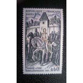 TIMBRE FRANCE (YT 1579 ) 1968 Jeanne d'Arc (1412-1431). Au départ de Vaucouleurs (1429)