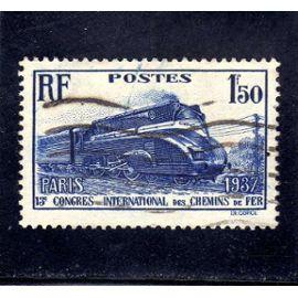 Timbre oblitéré de France n° 340 ref FR5312_2