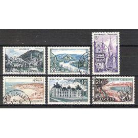 france, 1954, série touristique, n°976 à 981, oblitérés.