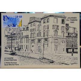 """Carte 1er jour """"Journée du timbre 1990"""""""