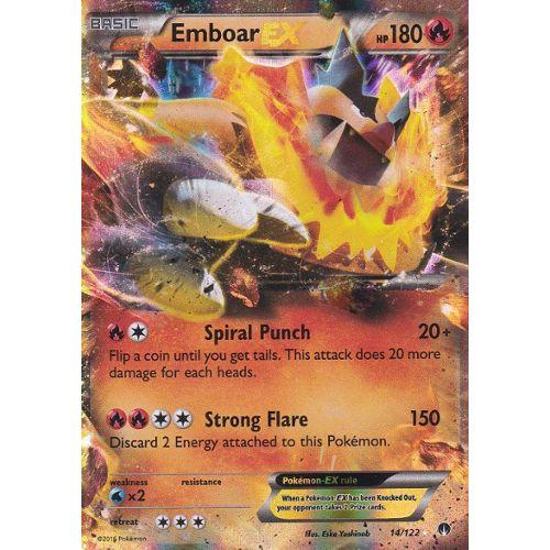 Carte Pokemon Emboar Ex Roitiflam Ex 14 122 Ultra Rare Xy9 Rupture Turbo Version Anglaise Rakuten