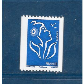 FRANCE Année 2008 timbre provenant de roulette n° 4159 neuf** n° noir au marianne lamouche philaposte
