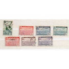Algérie- Lot de 7 timbres oblitérés- Poste Aérienne