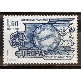 Europa Traité de Rome 1,60 (Magnifique n° 2207) Neuf** Luxe (= Sans Trace de Charnière) - France Année 1982 - N19774