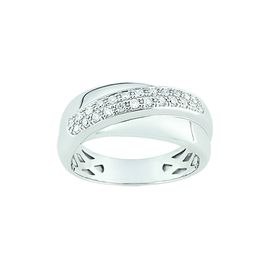 bague diamant or blanc 9 carats
