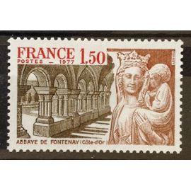 Abbaye de Fontenay 1,50 (Impeccable n° 1938) Neuf** Luxe (= Sans Trace de Charnière) - France Année 1977 - N19852