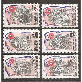 2564 à 2569 (1989) Série Personnages de la Révolution N** (cote 6,6e) (5595)