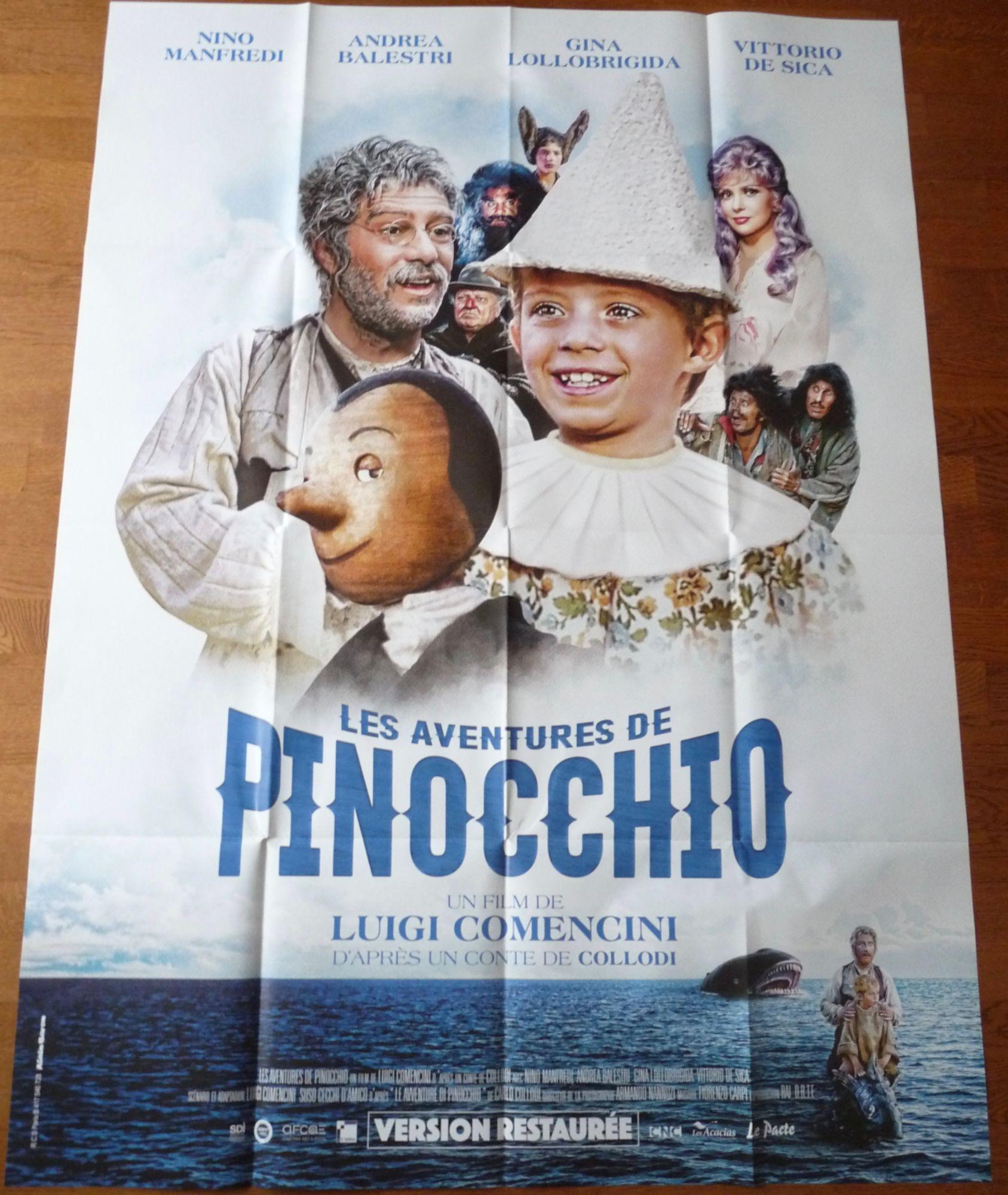 LES AVENTURES DE PINOCCHIO Luigi Comencini affiche cinema