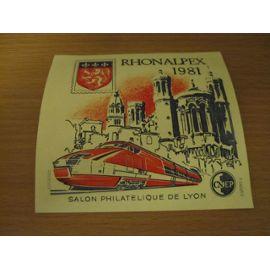 Bloc feuillet Rhonalpex 1981
