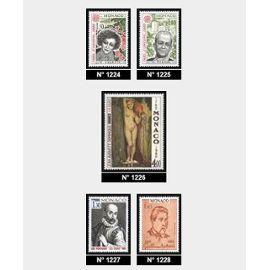 1980 Monaco Ingres + 4 personnages celebres