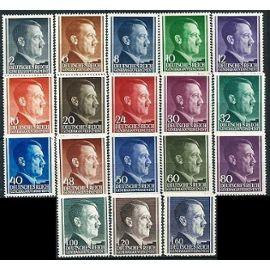 Pologne, Occupation Allemande, Gouvernement Général, 1941 - 1942, Série ultra Complète Chancelier Hitler, Yvert 82 À 99, neufs** luxe