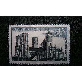 TIMBRE FRANCE ( YT 1235 ) 1960 Cathédrale de Laon