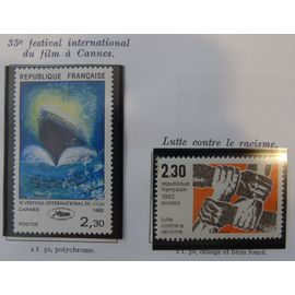 2 timbres neufs 1982 N° 2204-2212