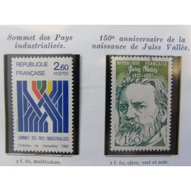 2 timbres neufs 1982 N° 2214-2215