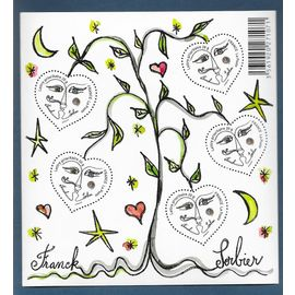 france ANNée 2008 bloc feuillet neuf  ** n° 115 saint valentin coeur  franck Sorbier 5 timbres n°4128