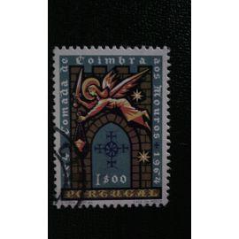 TIMBRE PORTUGAL ( YT 960 ) 1965 Ange avec l'épée au-dessus de la porte de la ville de Coimbra
