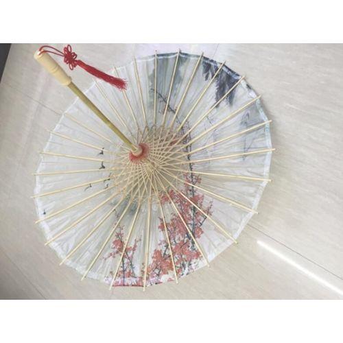 Ombrelle chinoise classique en bambou Motif fleurs de p/êcher