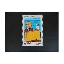 Timbre France 2007 Neuf ** YT N° 4051 Tintin et Milou