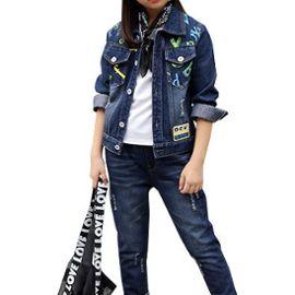 achat spécial handicaps structurels gamme complète d'articles Blouson Fille et Jeans Fille ENSEMBLE DE VETEMENTS Pour Fille 4-11 ans