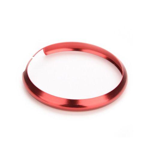 1 anneau en alu porte clef Mini-cooper anneau anodisé couleur noir