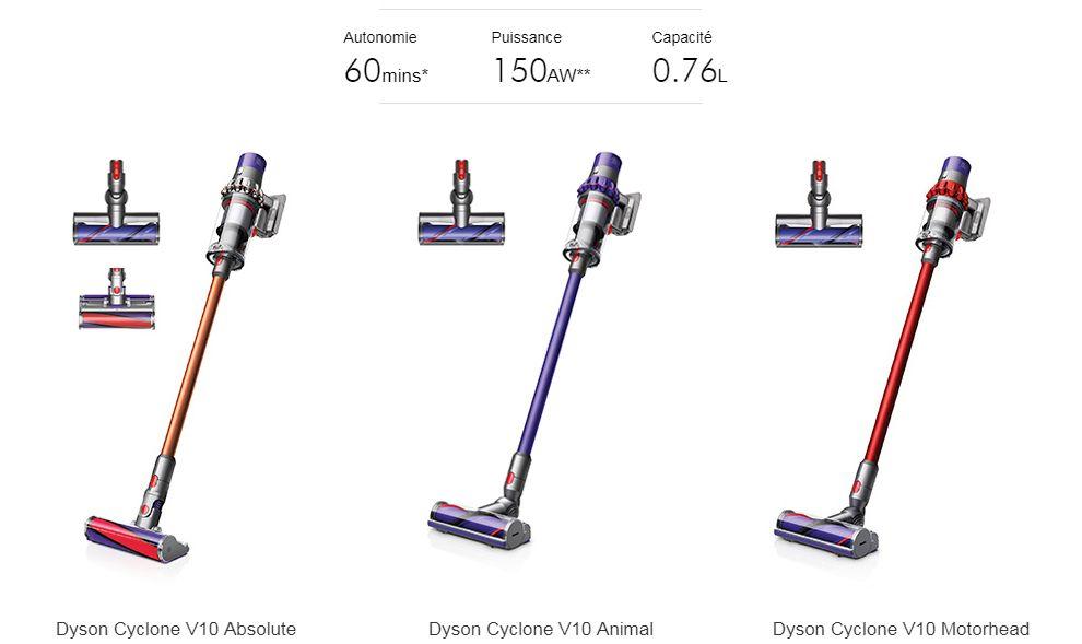 Aspirateur balai Dyson V10