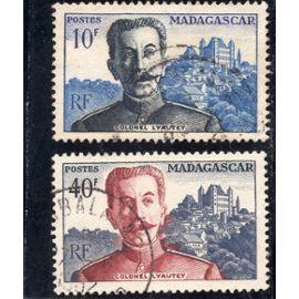 Timbres-poste de Madagascar (Centenaire de la naissance du maréchal Lyautey)