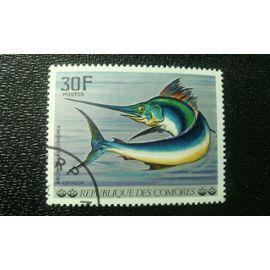 TIMBRE COMORES ( YT 191 ) 1977 poisson de l'archipel des Comores Poisson de l'épée (Xiphias gladius)