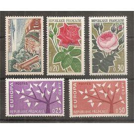 1355 à 1359 (1962) Série de Timbres neufs N** (cote 3,25e) (3893)