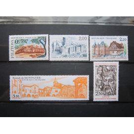 FRANCE. TIMBRES N° 2401-2405 (1986). SERIE TOURISTIQUE
