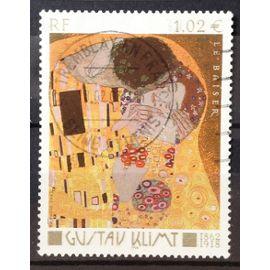 Gustav Klimt - Le Baiser 1,02€ (Très Joli n° 3461) Obl - France Année 2002 - N20150