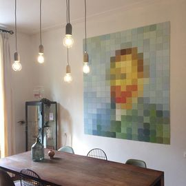 Suspension Salle A Manger Cava 5 Beton Design E27 Minimaliste Vintage Luminaire Interieur Rond