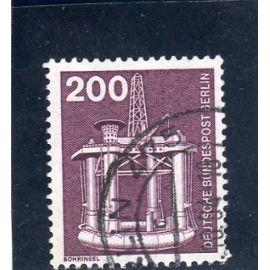 Timbre-poste de Berlin Ouest (Industrie et technique : plate-forme de forage)