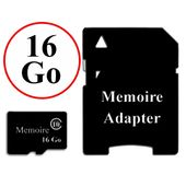 G/én/érique Carte memoire Micro SD 16 go Adaptateur Offert Compatible Samsung Galaxy s5 Active