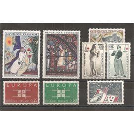 1396 à 1403 (1963) Série de Timbres neufs N** (cote 6e) (3706)